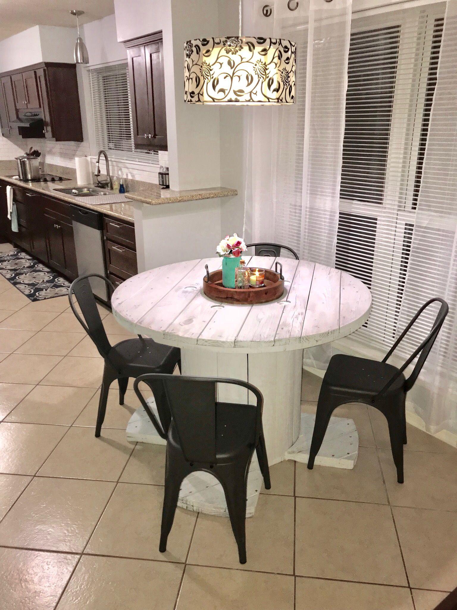 farmhouse kitchen diy spool kitchen table with images farmhouse kitchen diy home kitchen table on farmhouse kitchen table diy id=23750