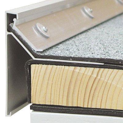 Zweiteiliger Dachrandabschluss mit durchgehender Klemmung