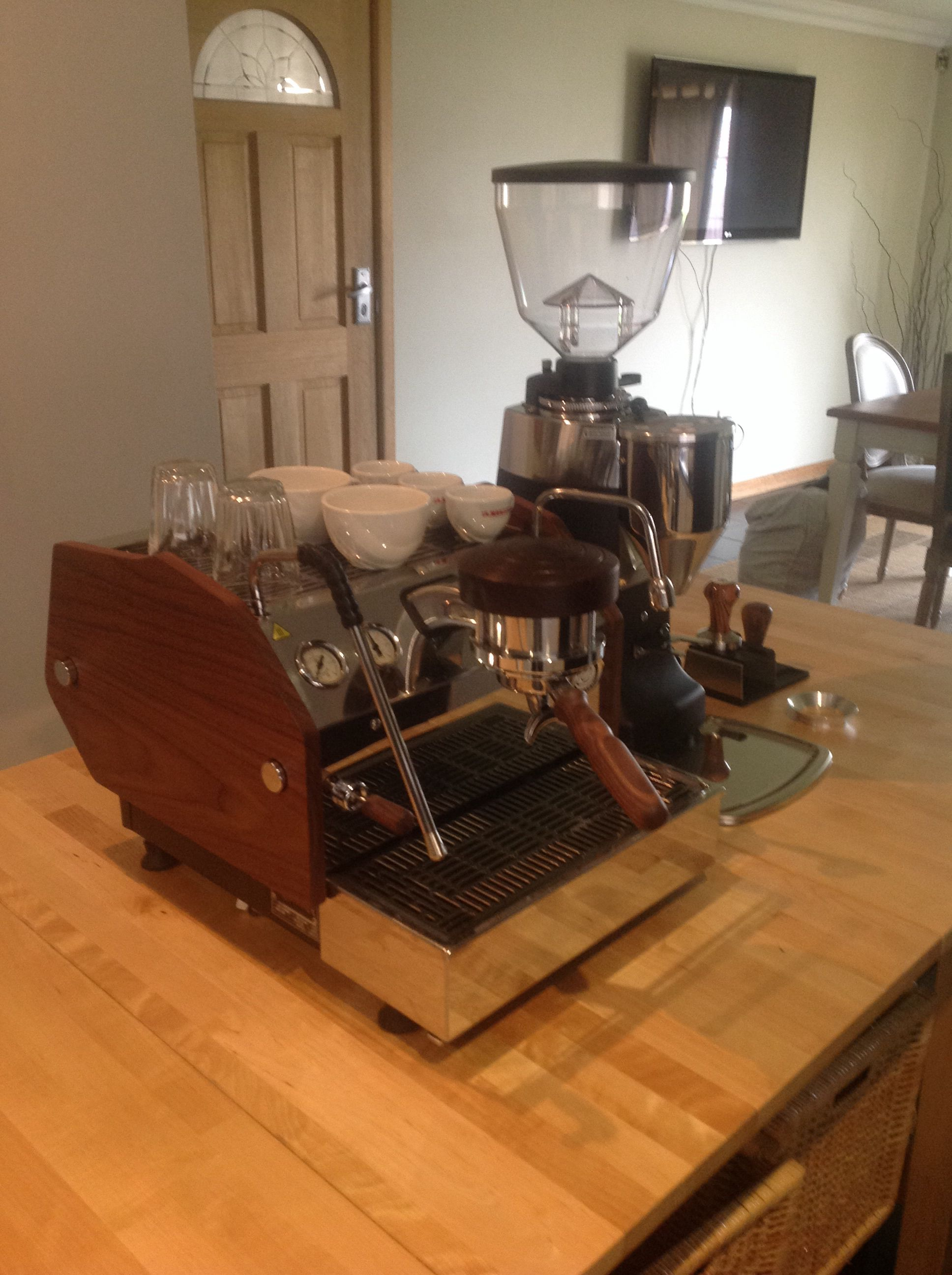 custom timber sides handles ect on my la marzocco gs3 espresso coffee machine if you would. Black Bedroom Furniture Sets. Home Design Ideas
