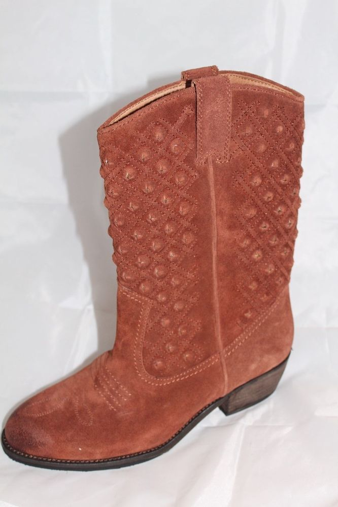 cc07e5a28ef LUCKY BRAND Womens MADONNA Bourbon Leather Western Boots US 9M ...