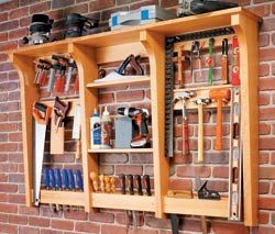 DIY Wall Mounted Tool Rack Tutorial.