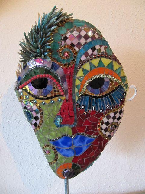 "Herzstücke mosaics | Stone Mask ""Bipolar"" | Flickr - Photo Sharing! | Mosaic"