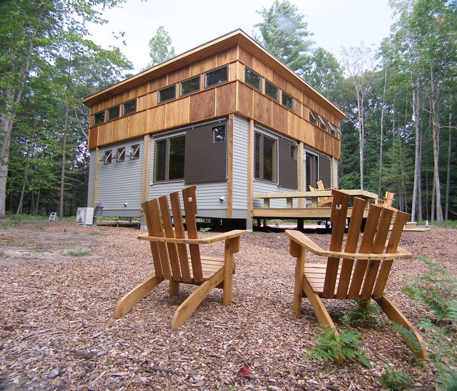 Right here in northern michigan fantastic home ideas for Small modular cabins and cottages