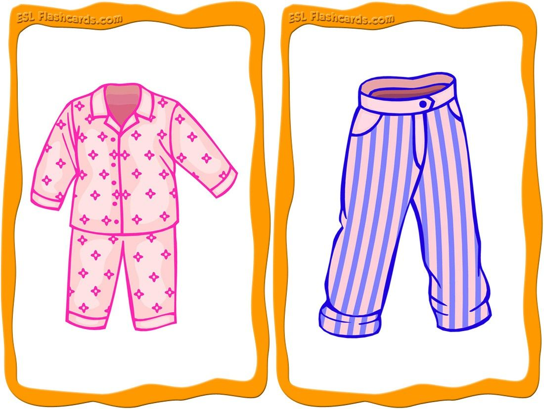 Printable Clothes Flashcards
