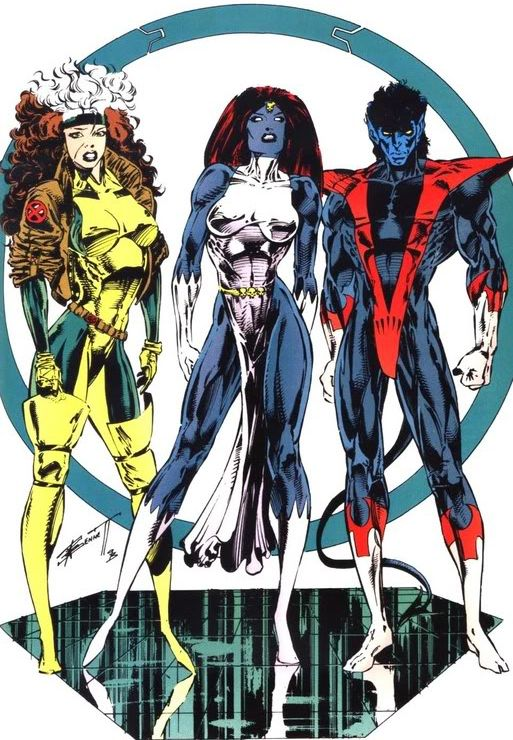 Rogue Mystique Nightcrawler By Richard Bennett Steve Moncuse And Glunis Oliver Marvel Superheroes Marvel Comics Art Marvel Girls