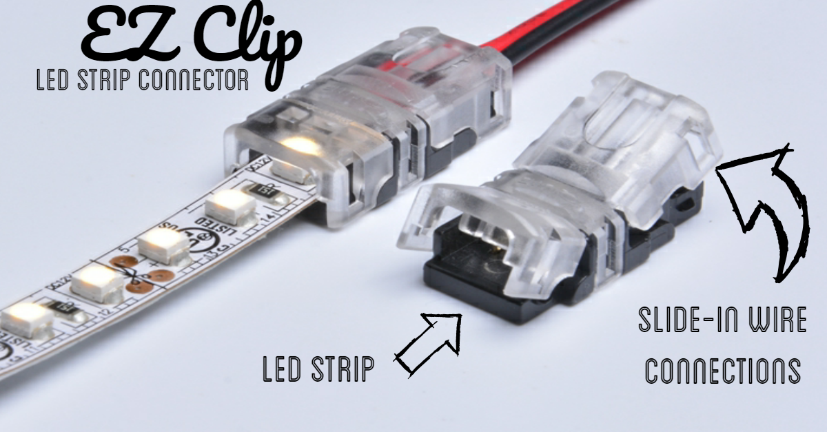 Led Strip Connectors 2 Pin 4 Pin Quick Easy Alternative To