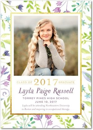 Soft and whimsical, this is the perfect graduation announcement for the grad who loves to dream big. Shop announcements that represent your grad's personality.