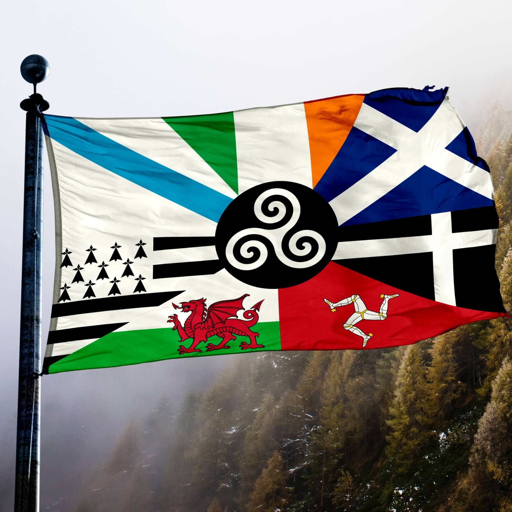 Combined Celtic Nations Flag Flags Banners Accessories Inventorybag Celtic Nations Celtic Flag