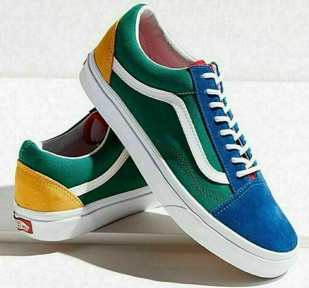 NEW VANS Old Skool Yacht Club Yellow Blue Green and Red