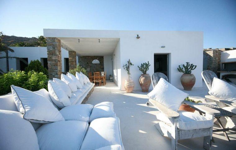 Déco terrasse: la terrasse de style îles grecques et méditerranéen