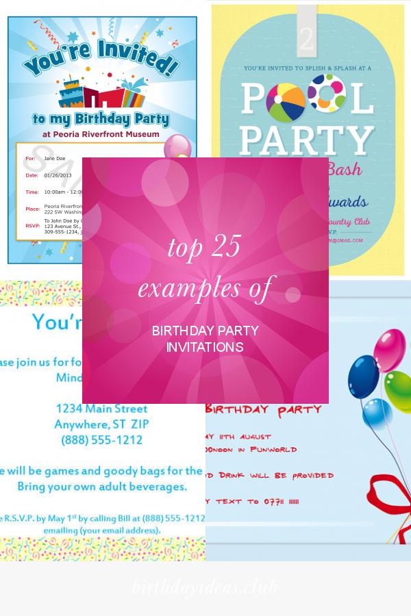 Pin On Best Birthday Invitation Ideas