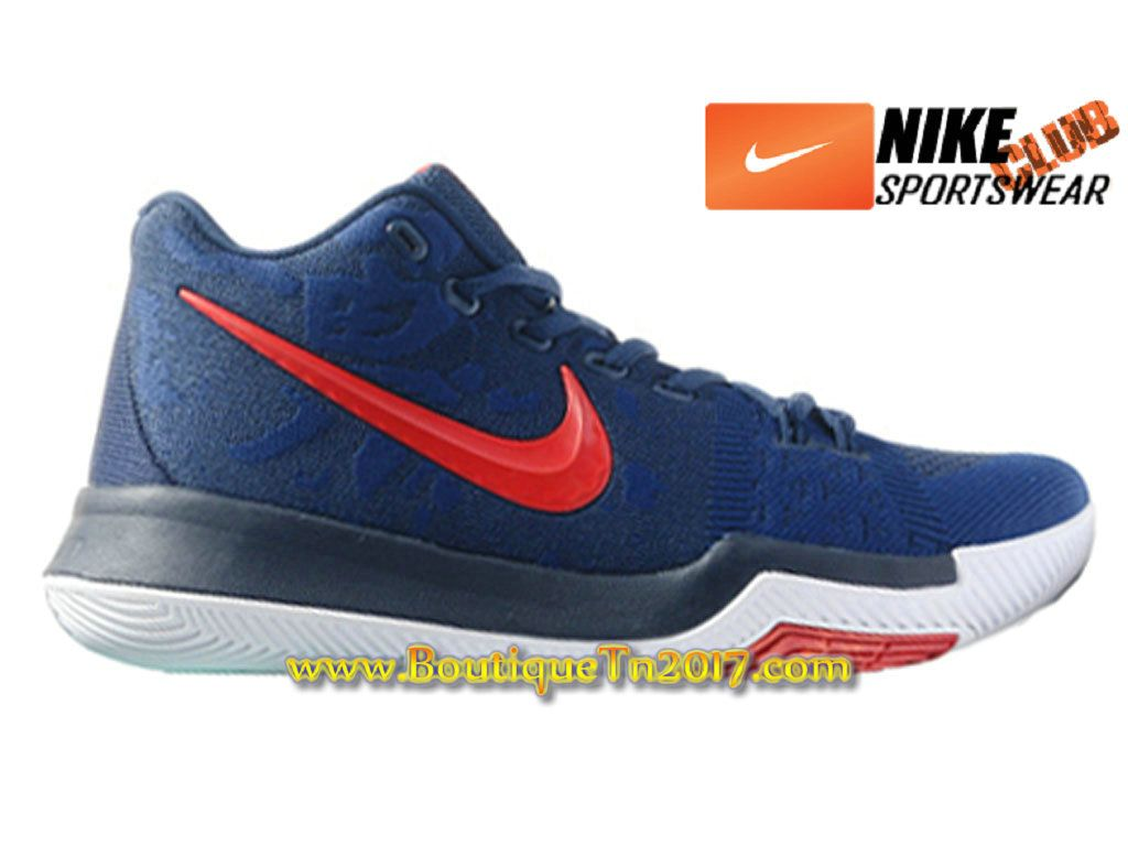 outlet store 85dc1 c7a43 ... sale nike kyrie 3 chaussures de basketball pas cher pour homme bleu  rouge nike kyrie 3
