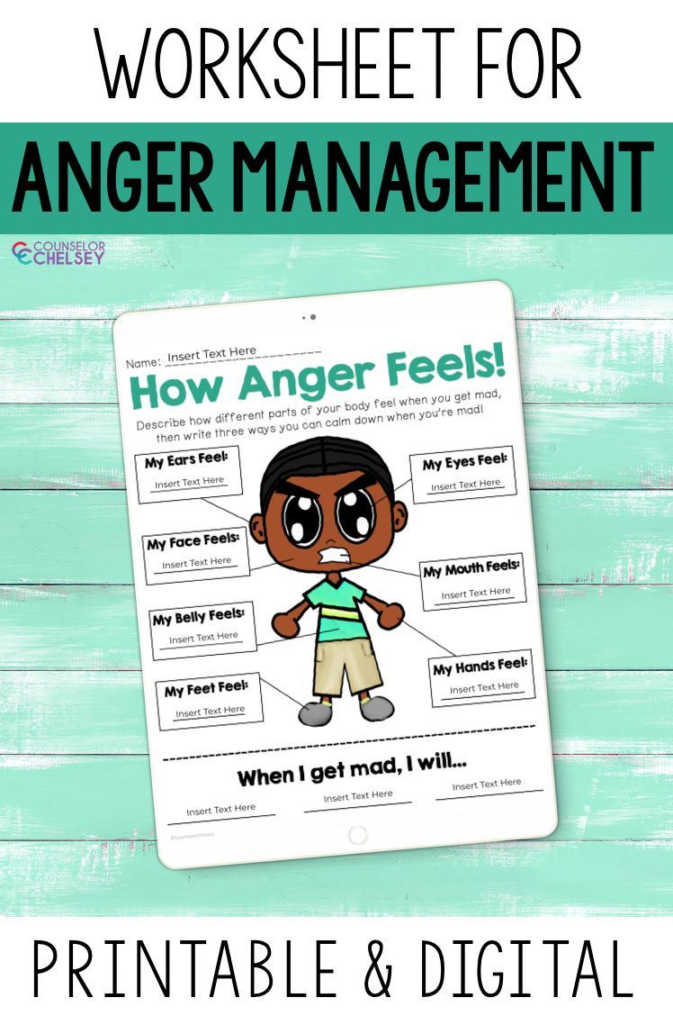 Anger Management Worksheet How Anger Feels Counselor Chelsey Simple School Counseling Ideas Anger Management For Kids Anger Management Worksheets Anger Management