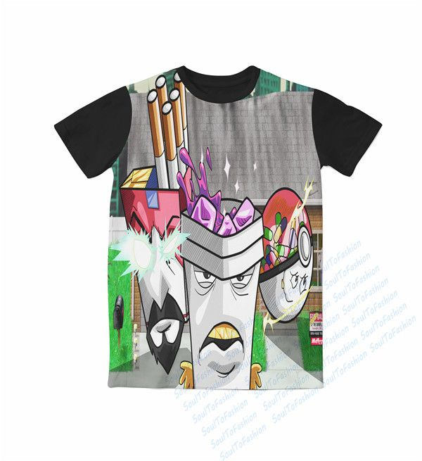 >> Click to Buy << Real AMERICAN US size Custom made 3D Sublimation print Aqua Teen Hunger Force T-shirt plus size #Affiliate
