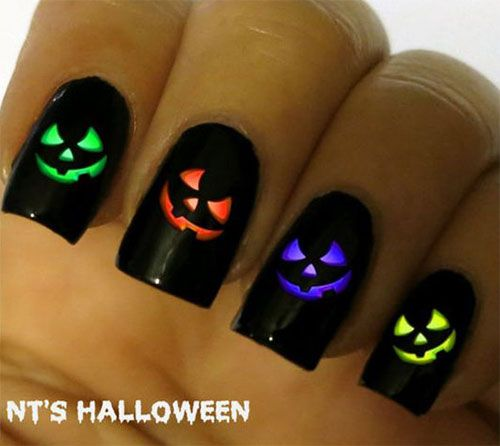 Halloween pumpkin nails halloween pumpkin nail art pinterest check out this collection of 18 easy halloween pumpkin nails art designs ideas of prinsesfo Choice Image