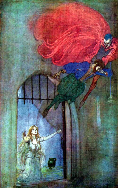 Faust Mephistopheles And Gretchen Vintage Illustration Art