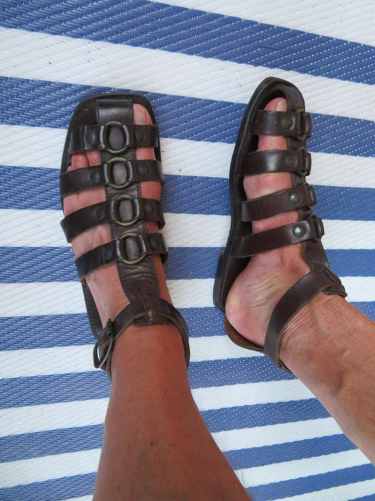Roman gladiator Sandals Mens Summer Lace up leather loafer Open Toe Shoes size