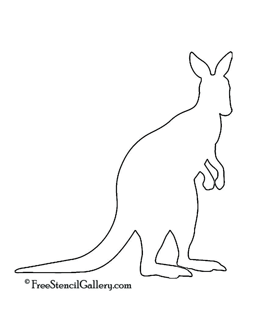 Baby Kangaroo Outline