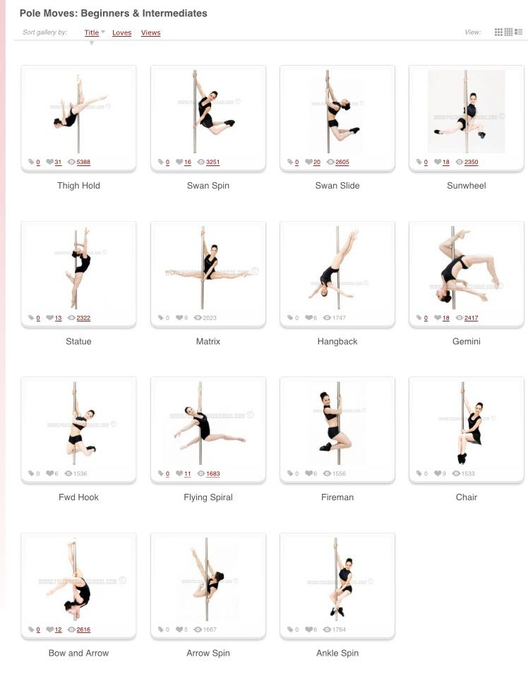 Beginner and intermediate moves | Pole fitness moves, Pole ...
