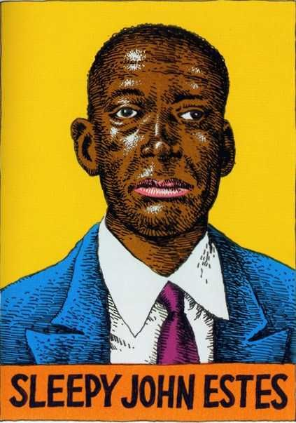 Wonderfull... Got a 78 record of Drop down mama about 1962. I saw him (with Hammie Nixon) about 1969. (This Image by Robert Crumb)