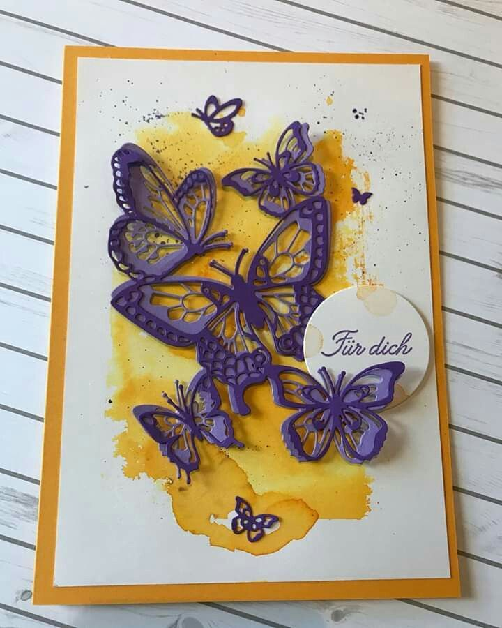 butterflies  bee cards hand made greeting cards