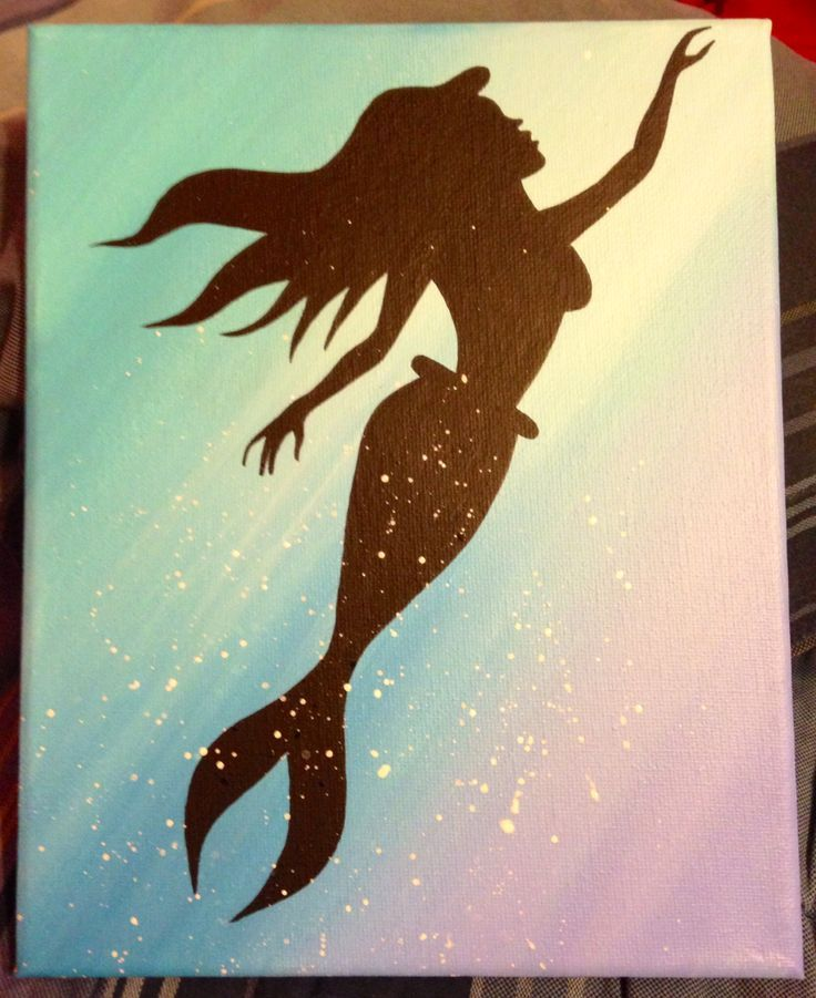 Image result for mermaid silhouette Acryulic pour