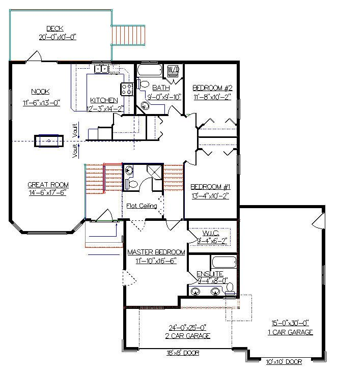 Bi Level House Plan With A Bonus Room 2010539 By E Designs House Plans House Floor Plans How To Plan