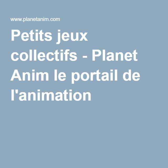 Très Petits jeux collectifs - Planet Anim le portail de l'animation  AF64