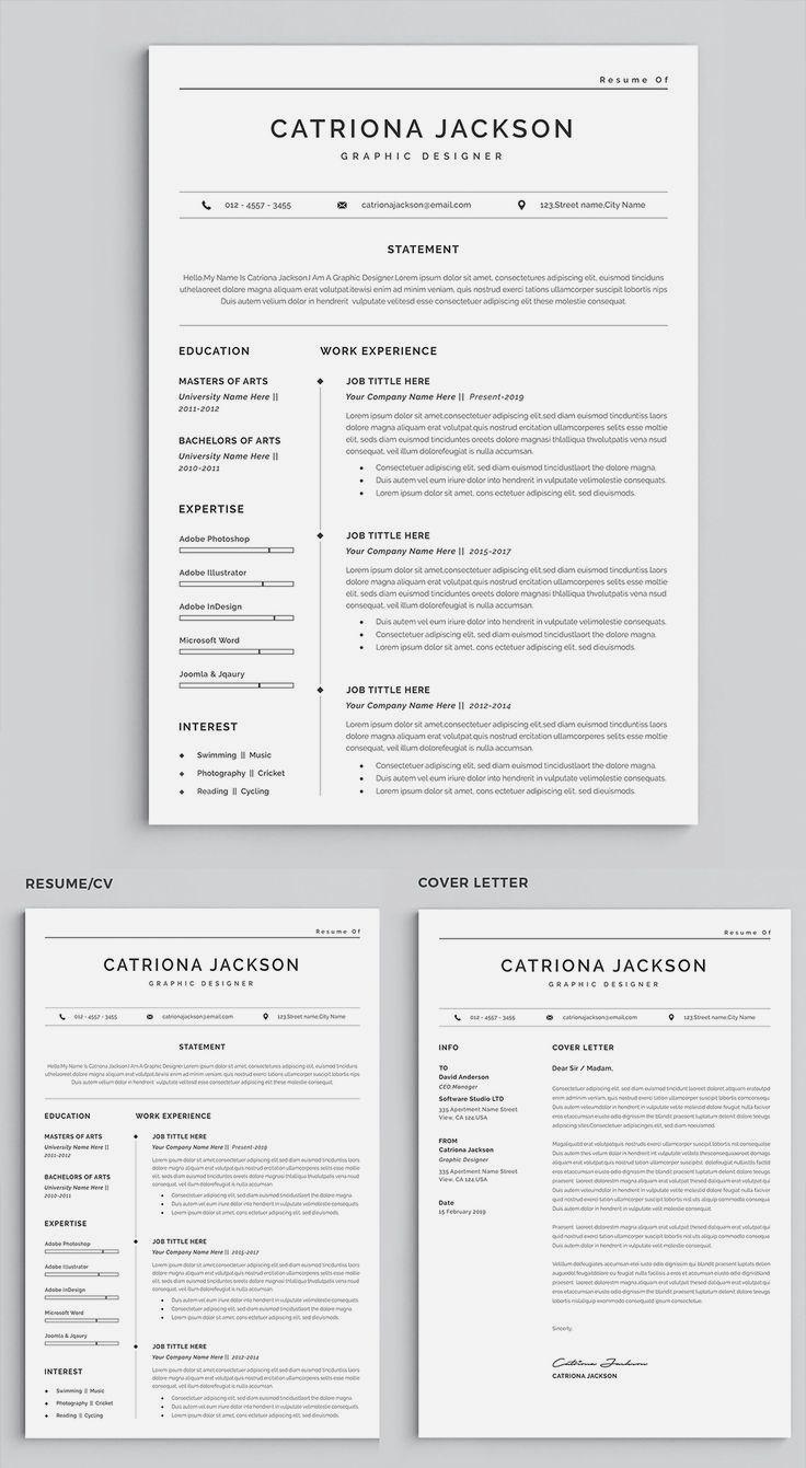 Resume Professional Resume Template CV Template