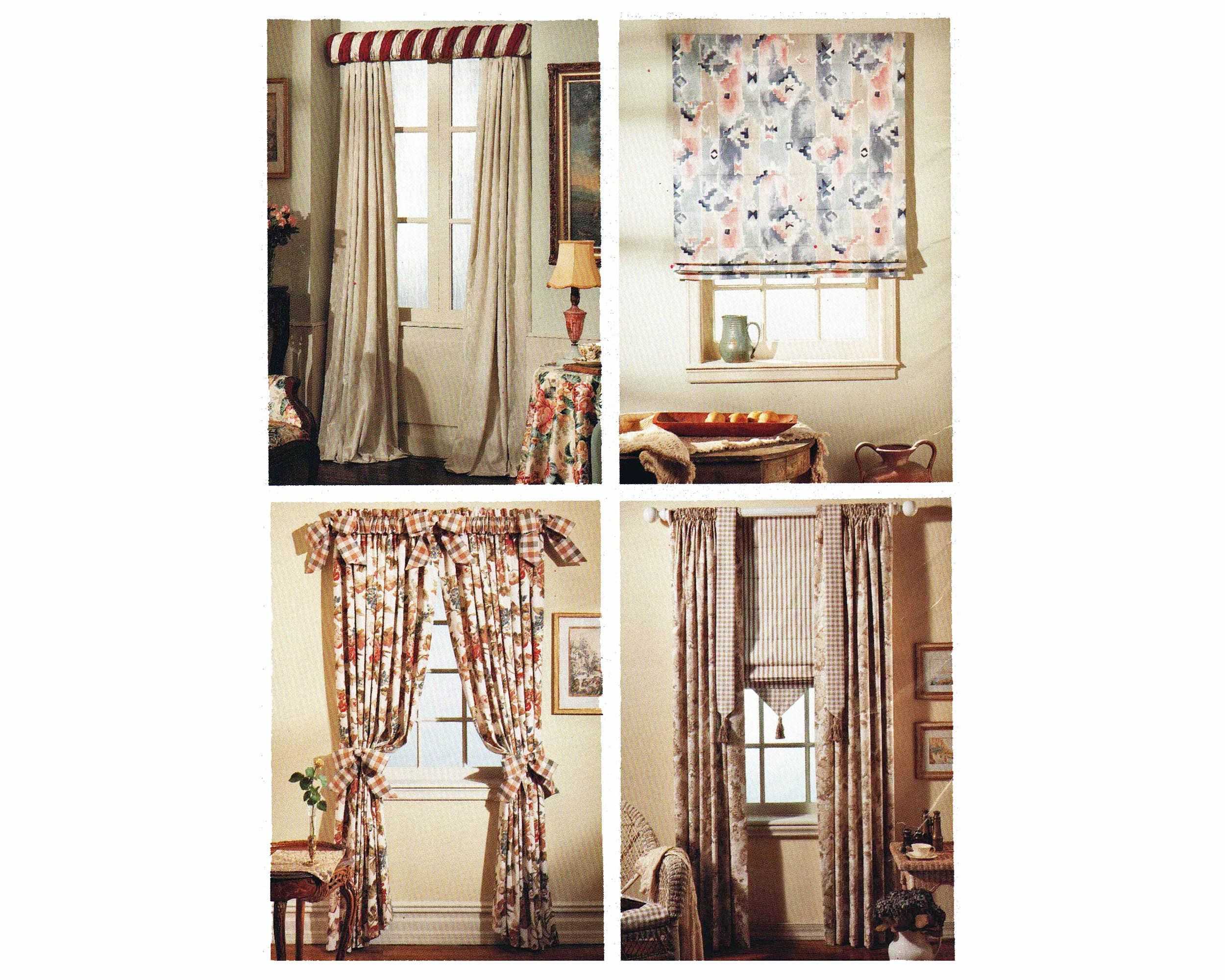 Sewing Pattern For Window Treaments Roman Shade Curtains And Rod Sleeve Mccalls 7937 Uncut Home Decor Curtain Patterns Patterned Window Treatments