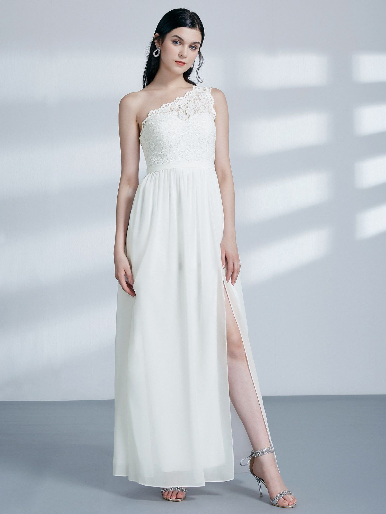 ab6a5767971 Long One Shoulder Formal Party Dress
