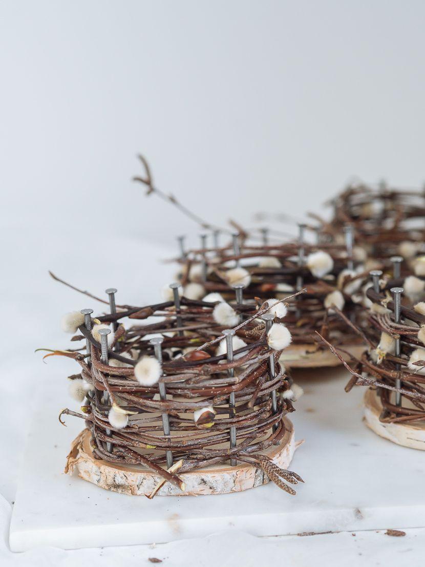 osterkörbchen basteln aus naturmaterialien