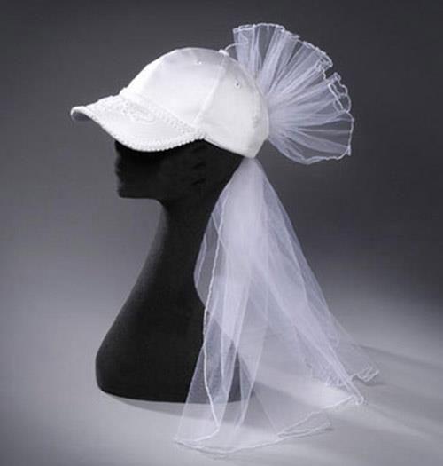 Wedding Bride/'s Cap with Veil Bridal Shower Wedding Bride Hat Decoration
