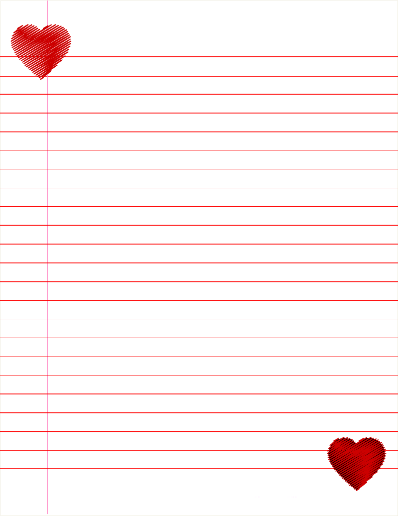 Cute Lined Paper Printable