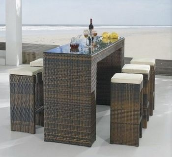 Rattan Outdoor Furniture | Wicker Outdoor Furniture on Outdoor Wicker Furniture Rattan Bar Set ...