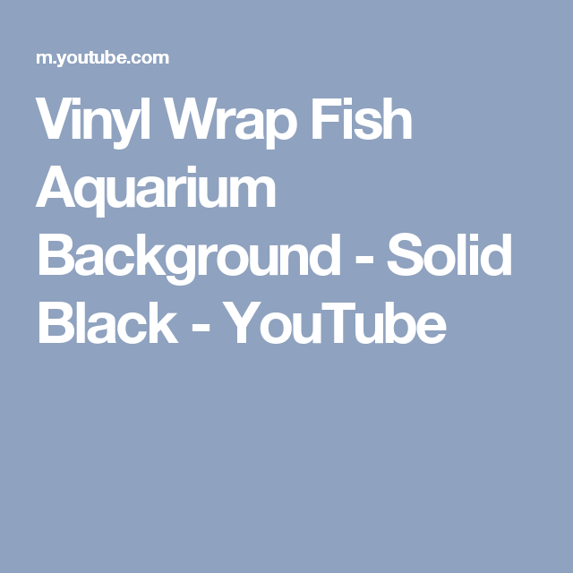 Vinyl Wrap Fish Aquarium Background Solid Black Youtube Aquarium Backgrounds Aquarium Fish Vinyl Wrap
