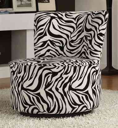 Zebra Swivel Chair Shabby Chic Table And Chairs Living Room