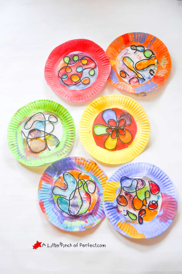 Beautiful Stained Glass Paper Plate Craft For Kids Paper Plate Crafts For Kids Painting For Kids Plate Crafts