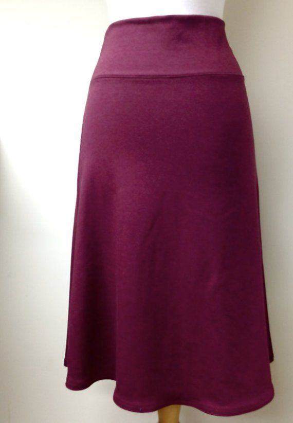 bc338d57b Long tulip skirt - flare wool or bamboo maxi skirt - made to order ...