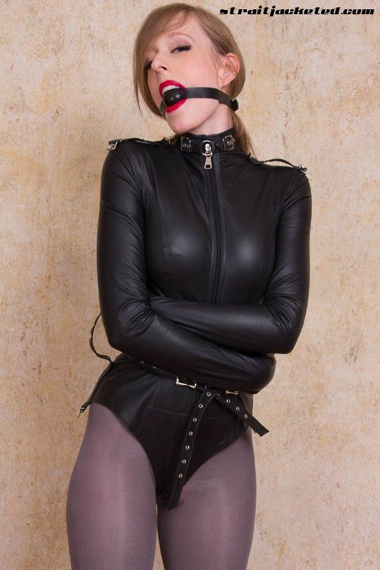 Neck entry latex catsuit