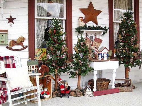 A Whole Bunch Of Christmas Porch Decorating Ideas Decorating - decoracion navidea para exteriores de casas