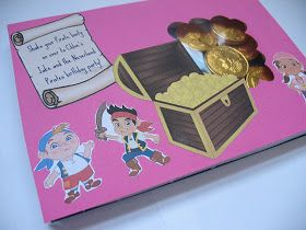 The Crafty Conundrum: Jake and the Neverland Pirates Party - Invitations