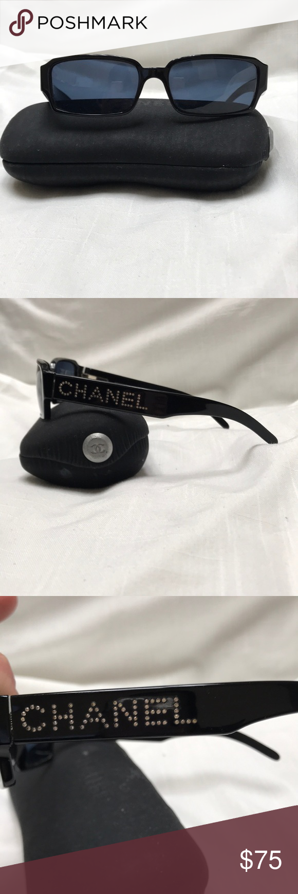 Chanel Sunglasses | Chanel sunglasses, Chanel logo and Chanel black