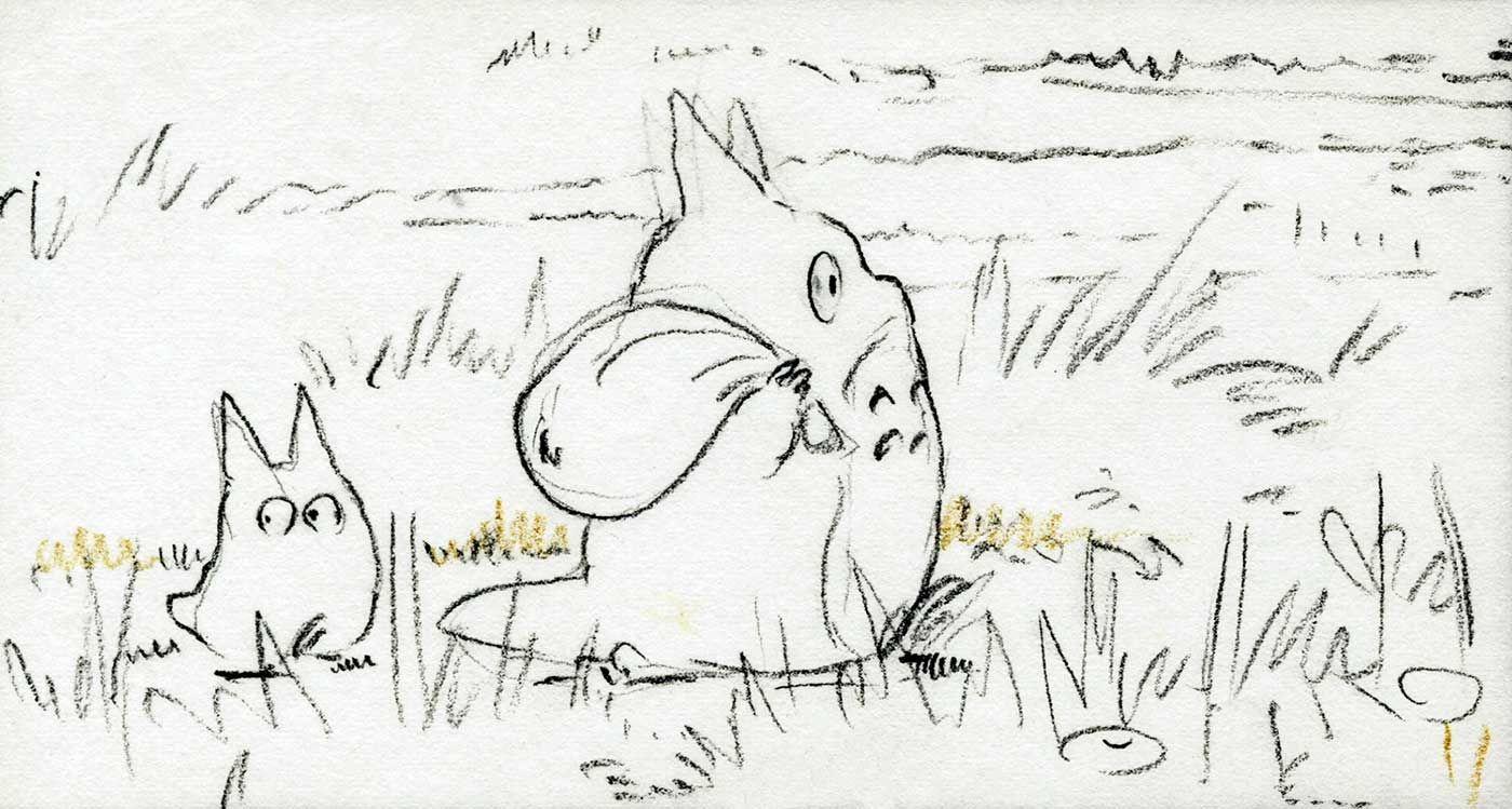 My Neighbor Totoro Storyboard Totoro Art Miyazaki Art Studio Ghibli Art [ 749 x 1400 Pixel ]