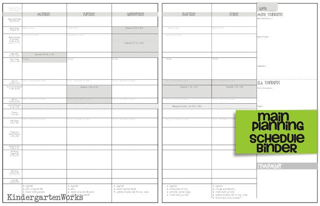 How to Make Teacher Planning Work for You Pinterest Weekly - weekly schedule template