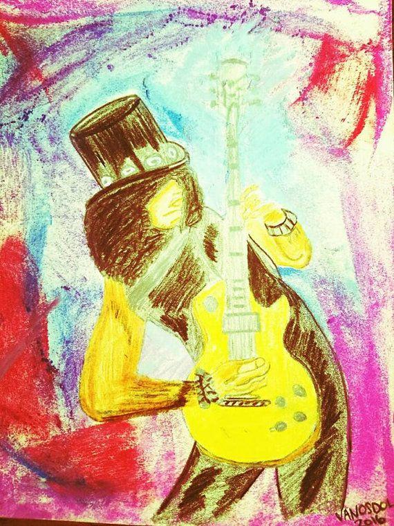 Les Paul Guitar Original Pastel Painting