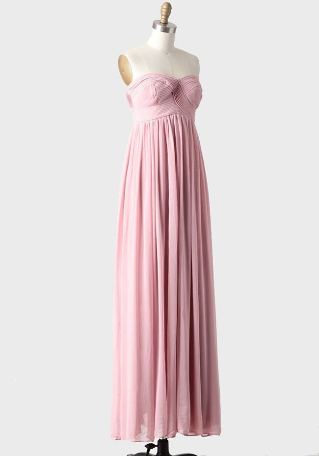 Hydrangea Maxi Dress In Rose | Modern Vintage Bridesmaid Dresses ...