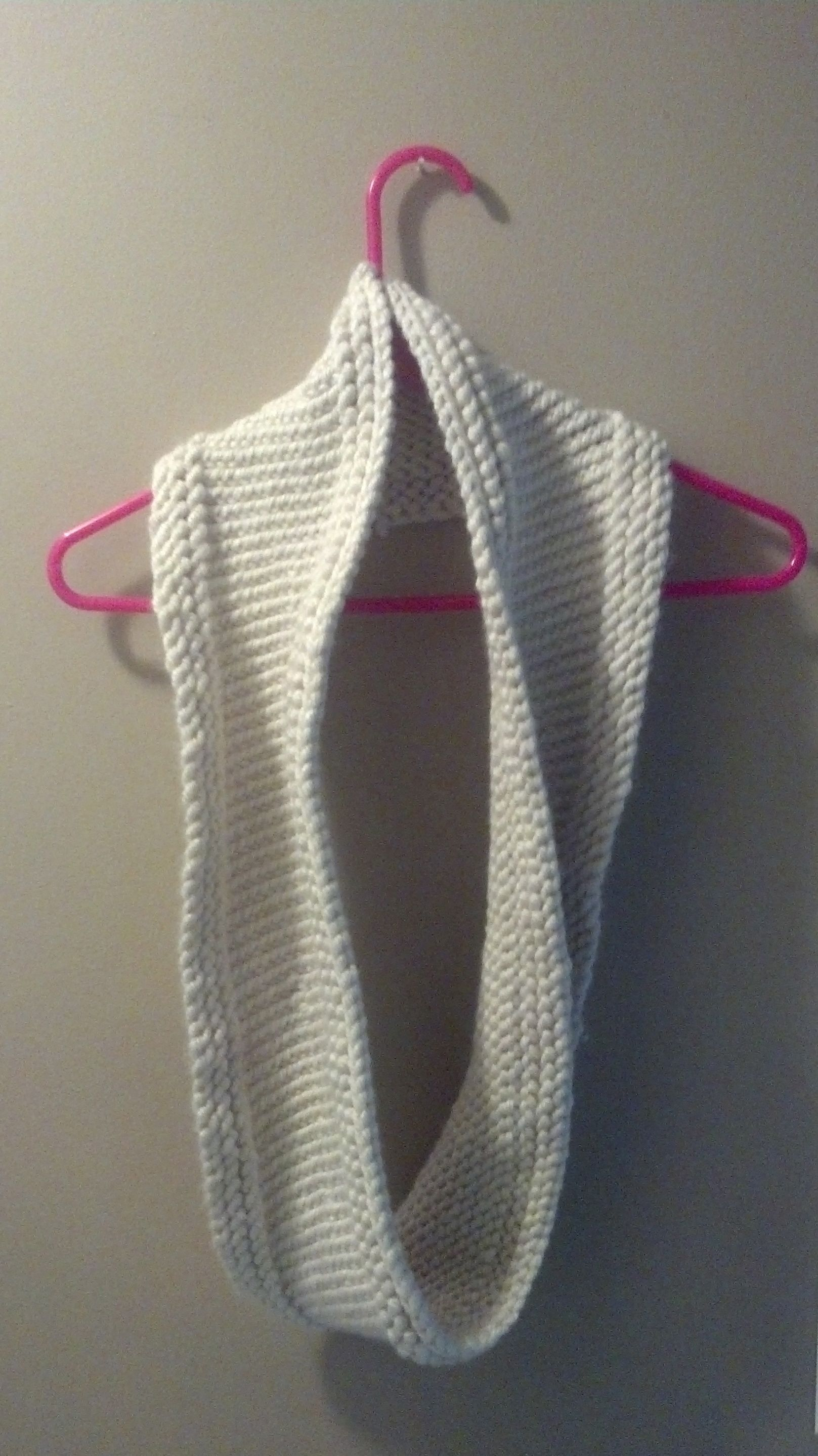 Circle scarf made with Bulky yarn on size 13 circular knitting ...