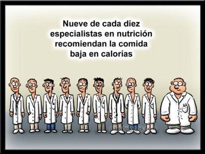 Los Médicos Recomiendan Comidas Bajas En Calorías Humor