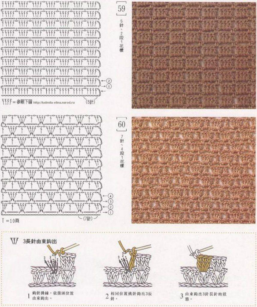 рисунок вязания крючком схемы для начинающих изделие